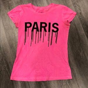 Alex and Chloe Paris Is Bleeding Pink T-Shirt
